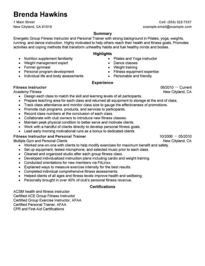 best fitness and personal trainer resume example livecareer sample care services space Resume Personal Trainer Resume Sample