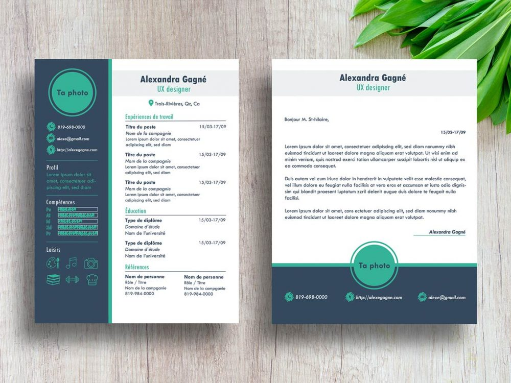 best free modern resume template with cover letter resumekraft trendy 1000x750 business Resume Free Modern Resume Template 2020