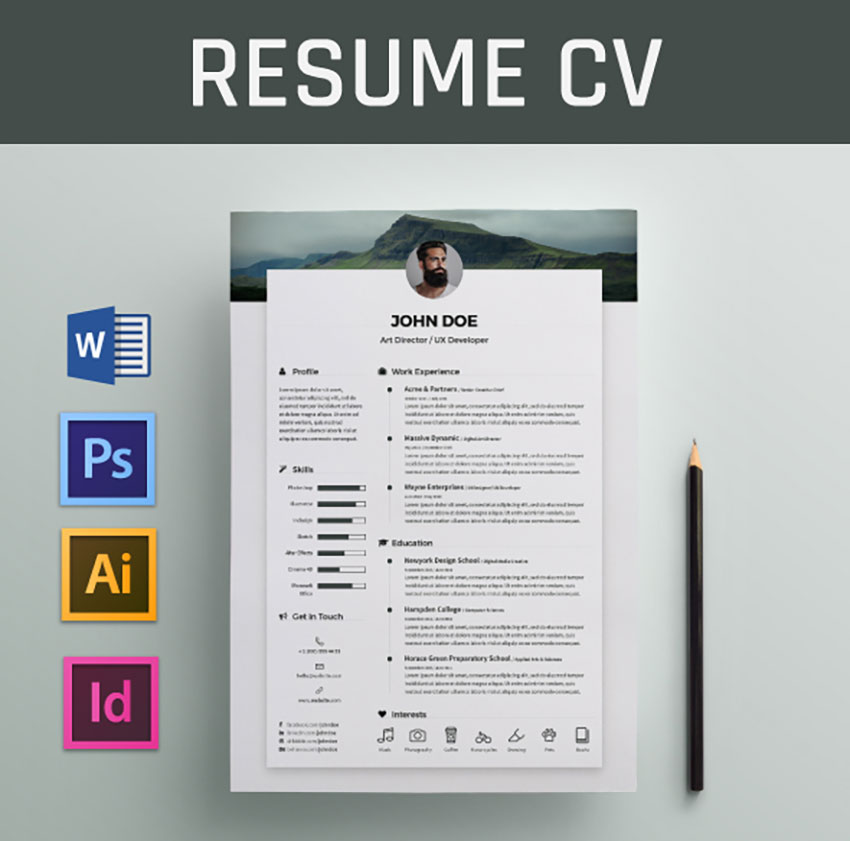 best free modern resume templates clean cv design formats for word behance latest Resume Free Modern Resume Templates For Word
