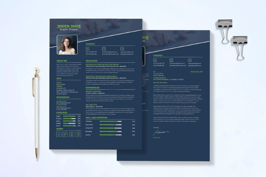 best free modern resume templates clean cv design formats template feature and header Resume Best Modern Resume Template