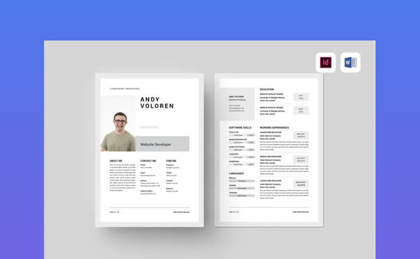 best free ms word resume cv templates for mac template correctional officer duties and Resume Best Pages Resume Template