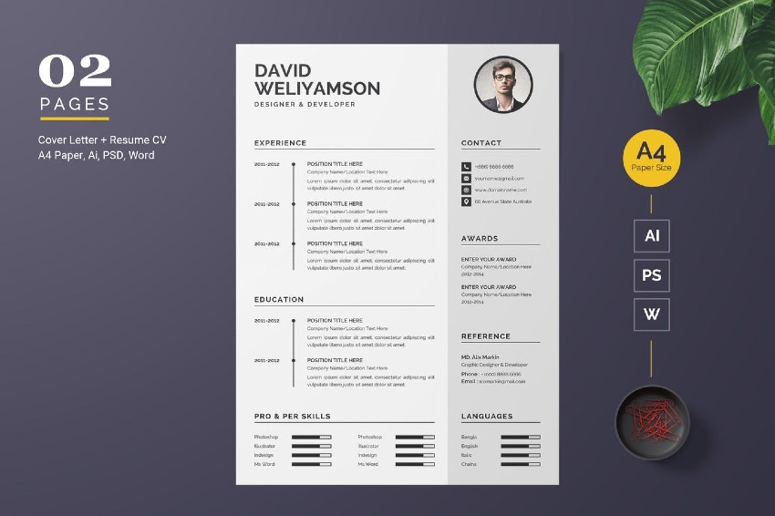 best free ms word resume cv templates for mac template space college scholarship sample Resume Best Pages Resume Template