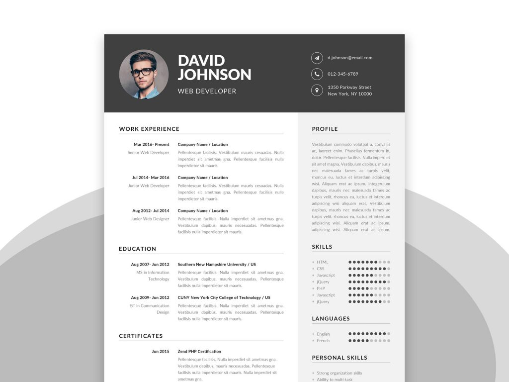 best free ms word resume templates webthemez microsoft template with cover letter Resume Microsoft Word 07 Resume Templates