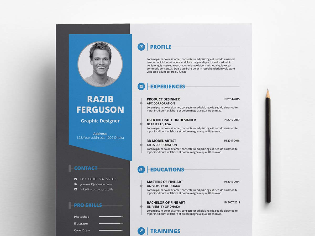 best free ms word resume templates webthemez modern template cover letter coach bootstrap Resume Free Modern Resume Template 2020
