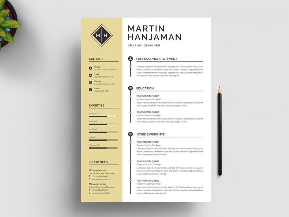 best free ms word resume templates webthemez template 1000x750 staged reading on career Resume Free Resume Template Download 2020