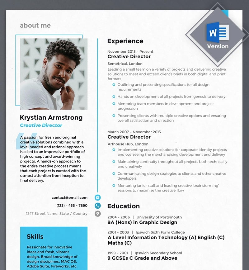 best free printable resume templates modern format examples creative director template Resume Modern Resume Format Examples