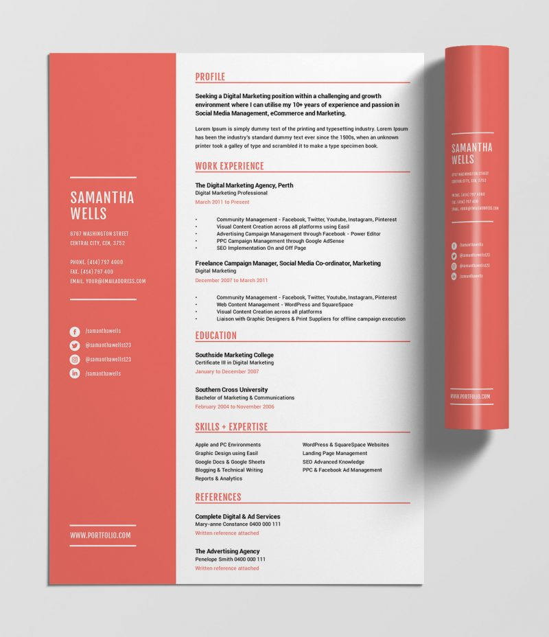 best free resume templates tips on to stand out easil eye catching resumes coral template Resume Eye Catching Resumes Templates Free