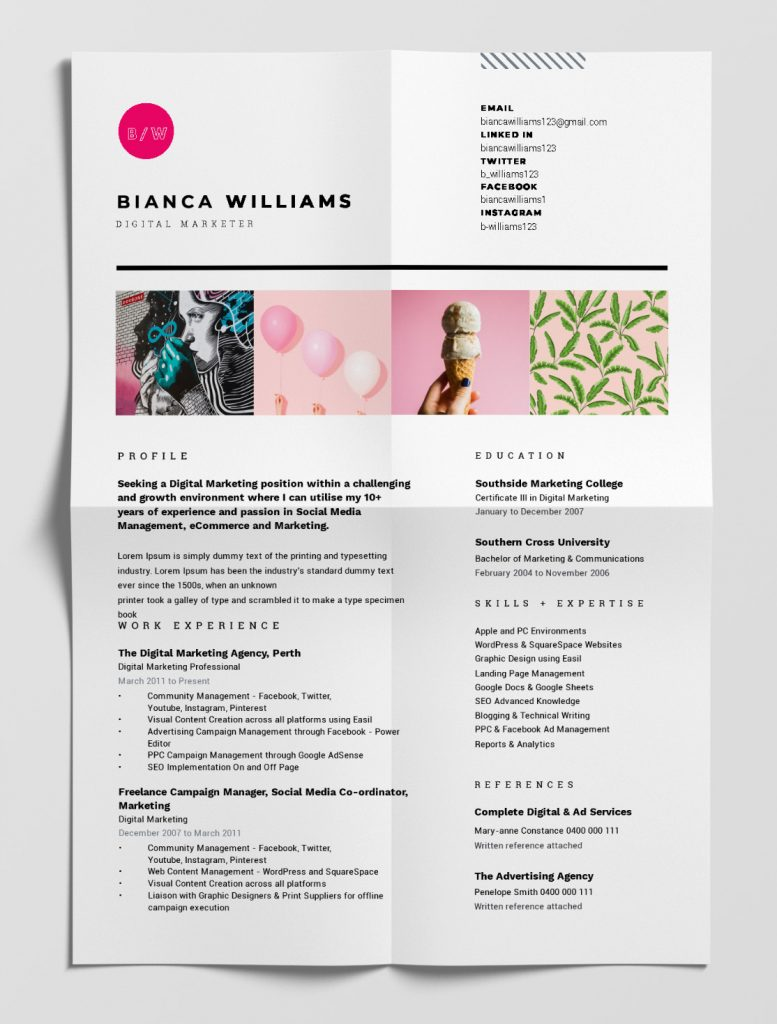 best free resume templates tips on to stand out easil eye catching resumes portfolio Resume Eye Catching Resumes Templates Free
