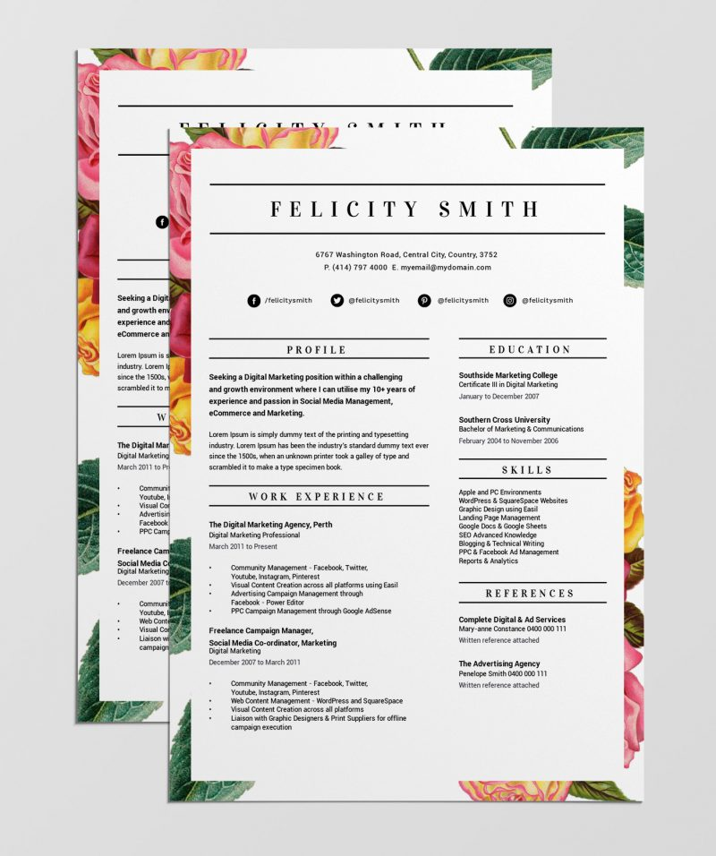 best free resume templates tips on to stand out easil layouts that floral border template Resume Resume Layouts That Stand Out