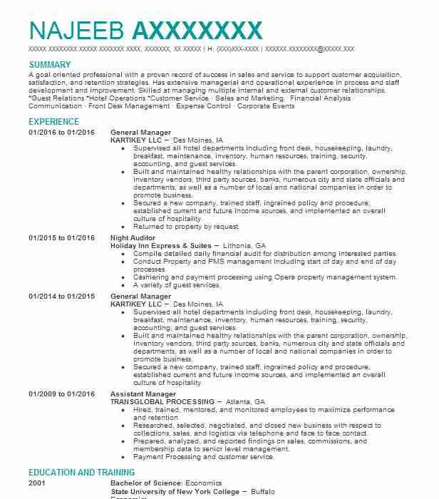 best general manager resume example livecareer sample health care aide academic for Resume General Manager Resume Sample