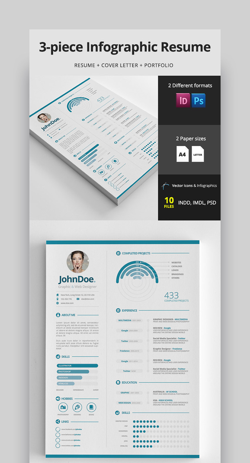 best infographic resume cv templates creative examples for timeline piece clean high Resume Infographic Resume Timeline