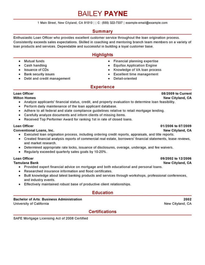 best loan officer resume example livecareer mortgage professional finance modern writing Resume Mortgage Professional Resume