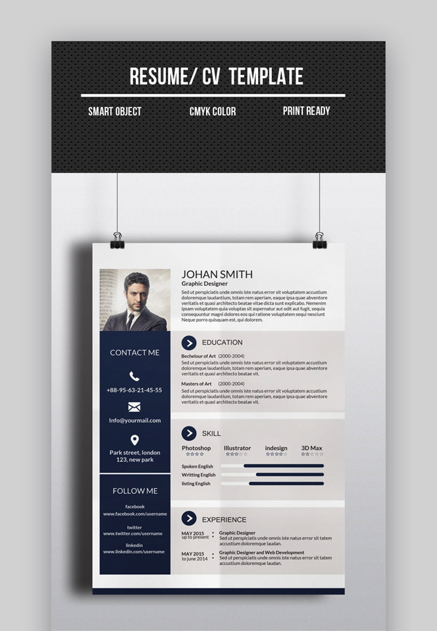 best one resume templates simple to use format examples sample cv template interior Resume One Page Resume Sample