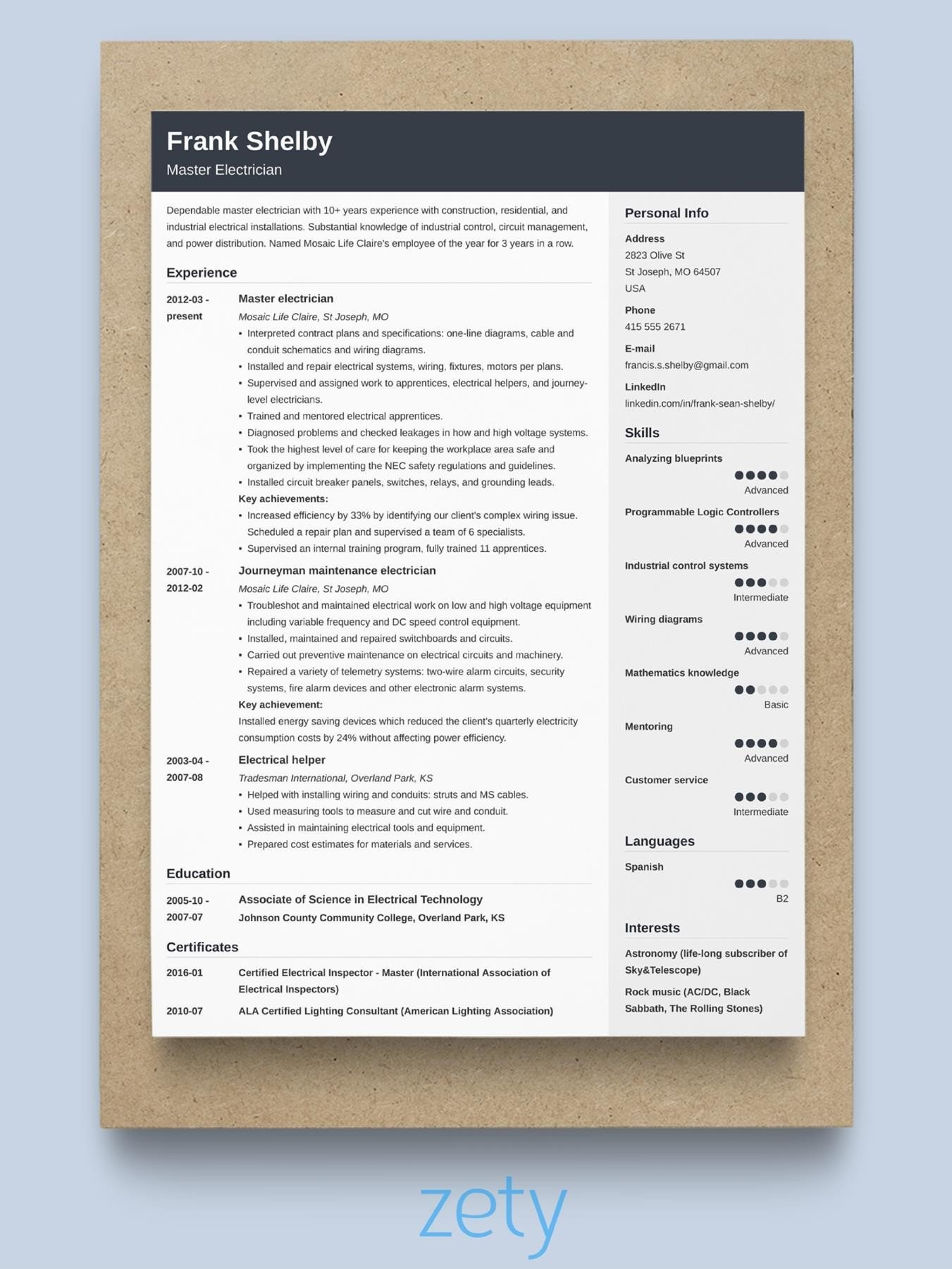 best resume format professional samples the entry level job internship for freshers Resume The Best Resume Format 2020