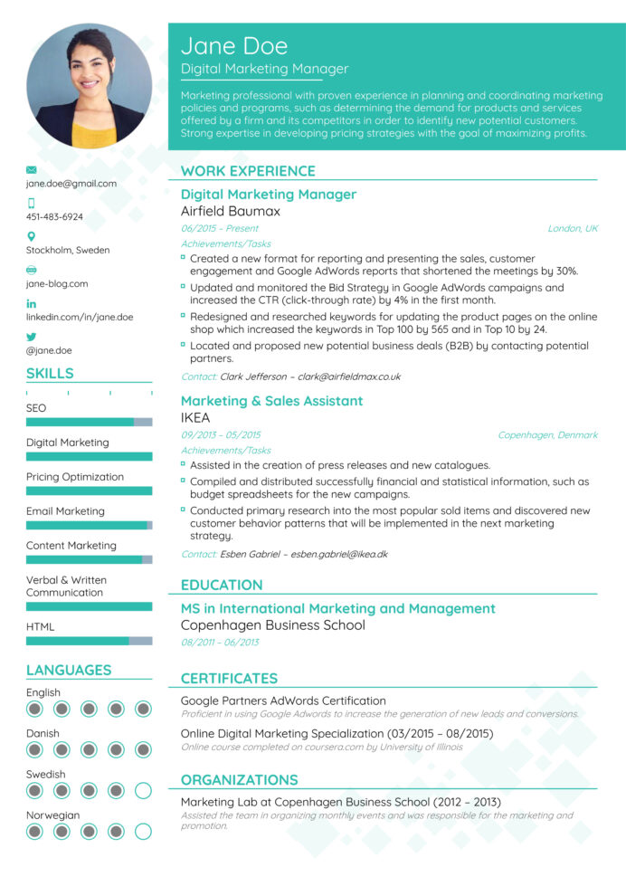best resume formats for professional templates most updated format business analysis Resume Most Effective Resume Format