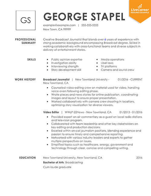 best resume formats of livecareer most popular template combinational thumb stagehand Resume Most Popular Resume Template