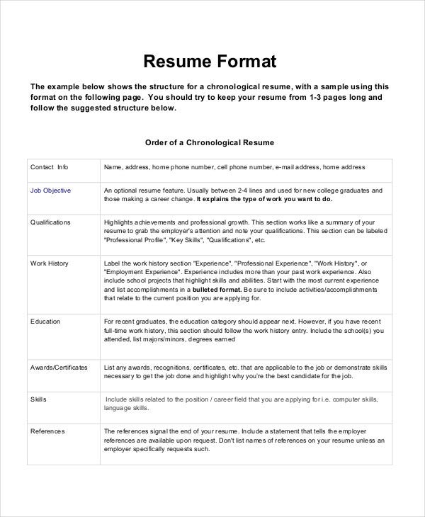 best resume formats pdf free premium templates format for job chronological clinical Resume Best Resume Format For Job