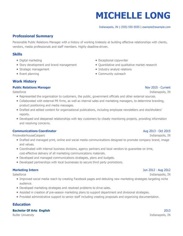 best resume templates for my perfect professional business template modern pr manager Resume Professional Business Resume Template