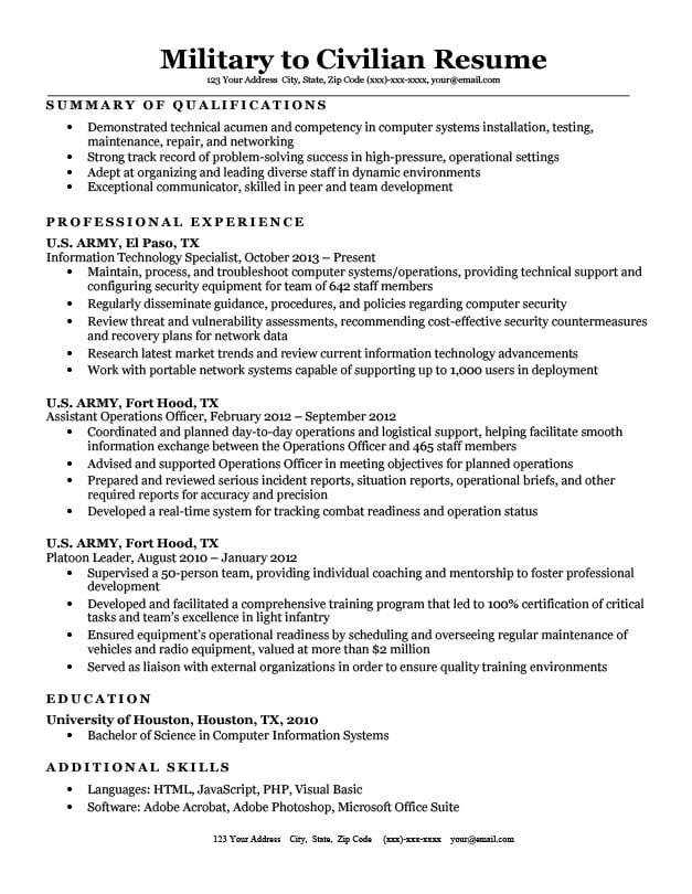 best resume writing services for veterans employment resources service military to Resume Resume Writing Service For Military To Civilian