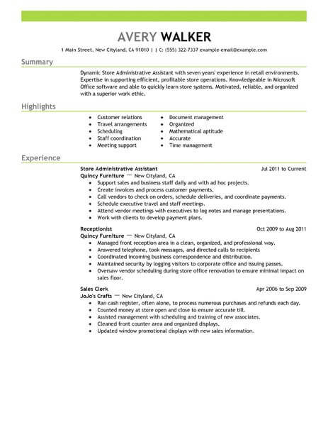 best store administrative assistant resume example livecareer job description Resume Administrative Assistant Job Description Resume
