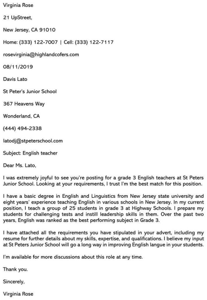 best teaching cover letter sample and email example teacher resume 710x1030 computer Resume Teacher Resume And Cover Letter