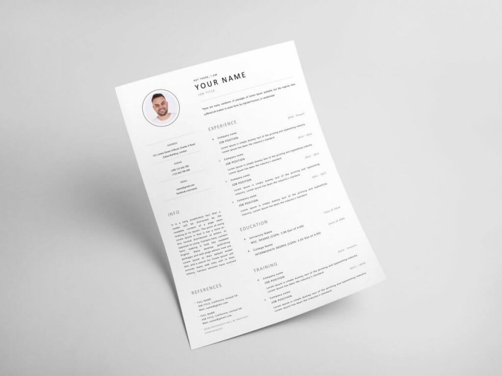 best top free modern cv template just slides resume example 1200x900 1024x768 research Resume Best Modern Resume Template