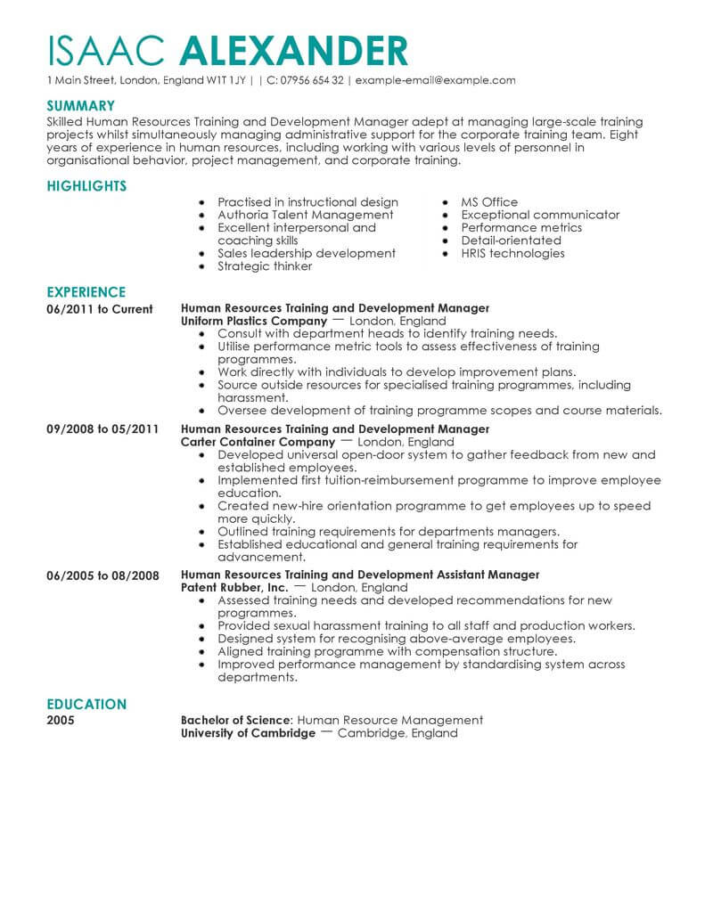 best training and development manager resume example livecareer keywords human resources Resume Training Manager Resume Keywords