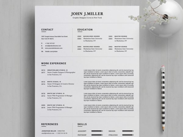 best word resume templates month end close process follow up sample email after Resume The Best Template For Resume 2020