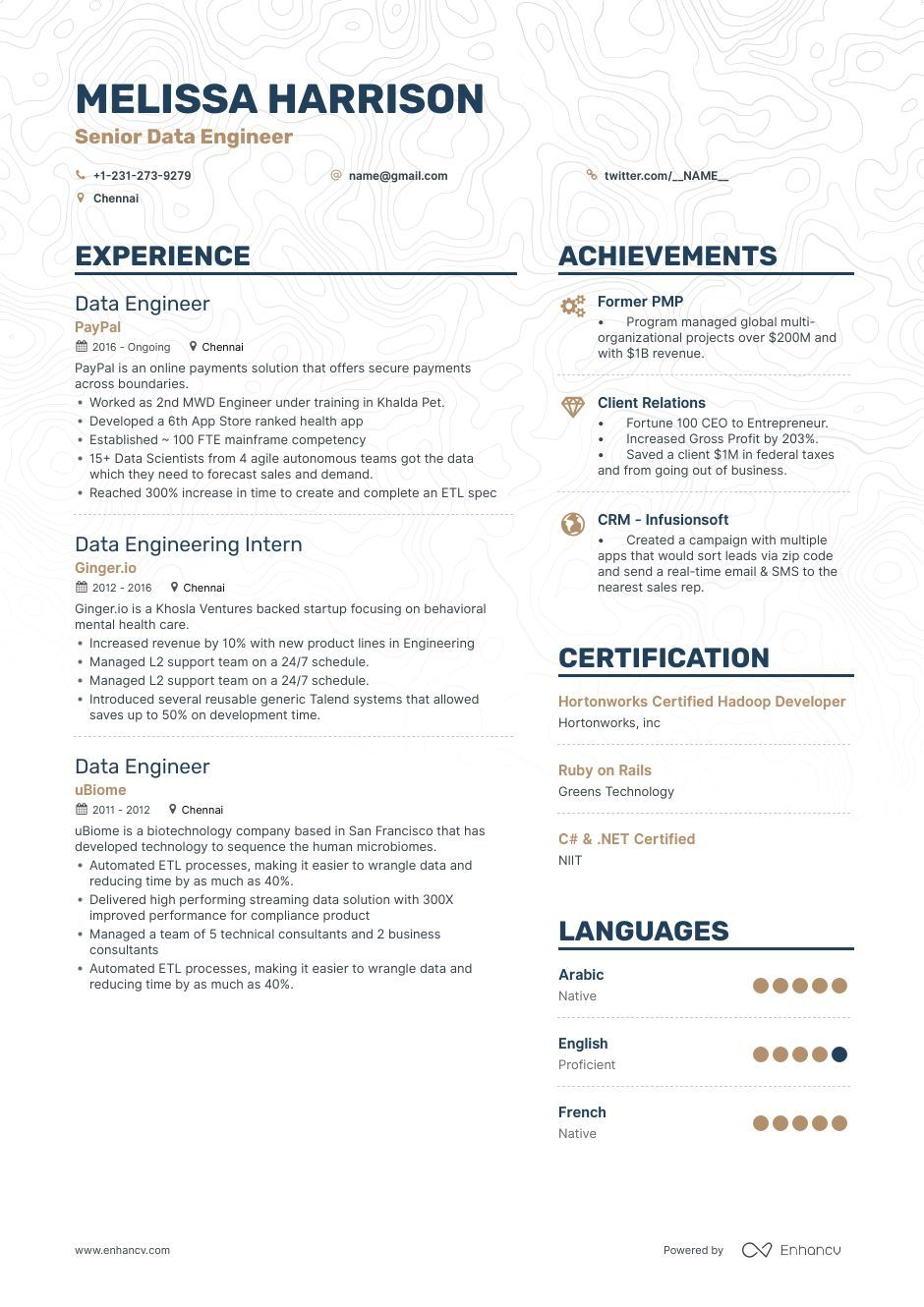 big data engineer resume examples and writing guide scientist example make your headline Resume Big Data Resume Example