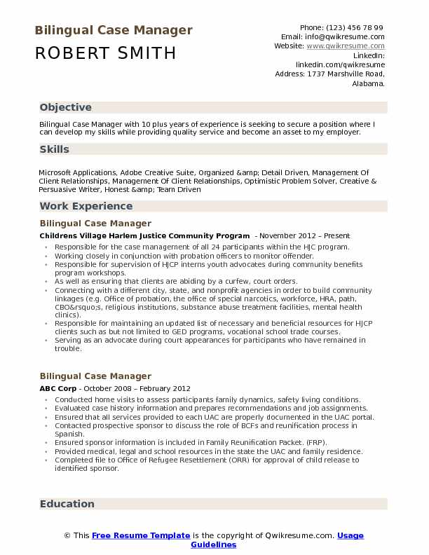 bilingual case manager resume samples qwikresume management experience pdf structural Resume Case Management Experience Resume