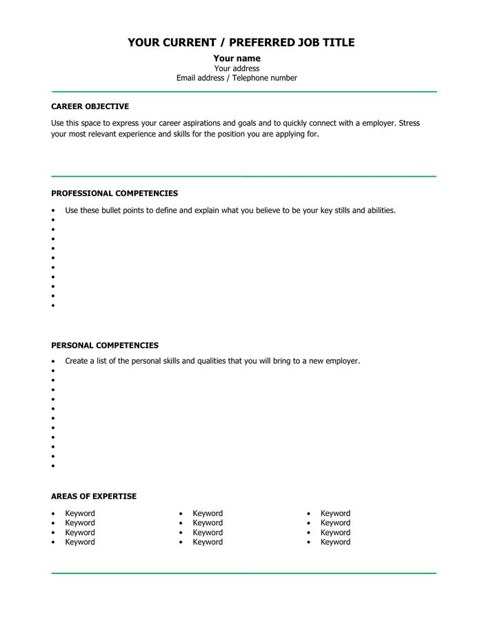 blank cv template example in word and pdf formats resume job design creative writer talk Resume Download Blank Resume Template
