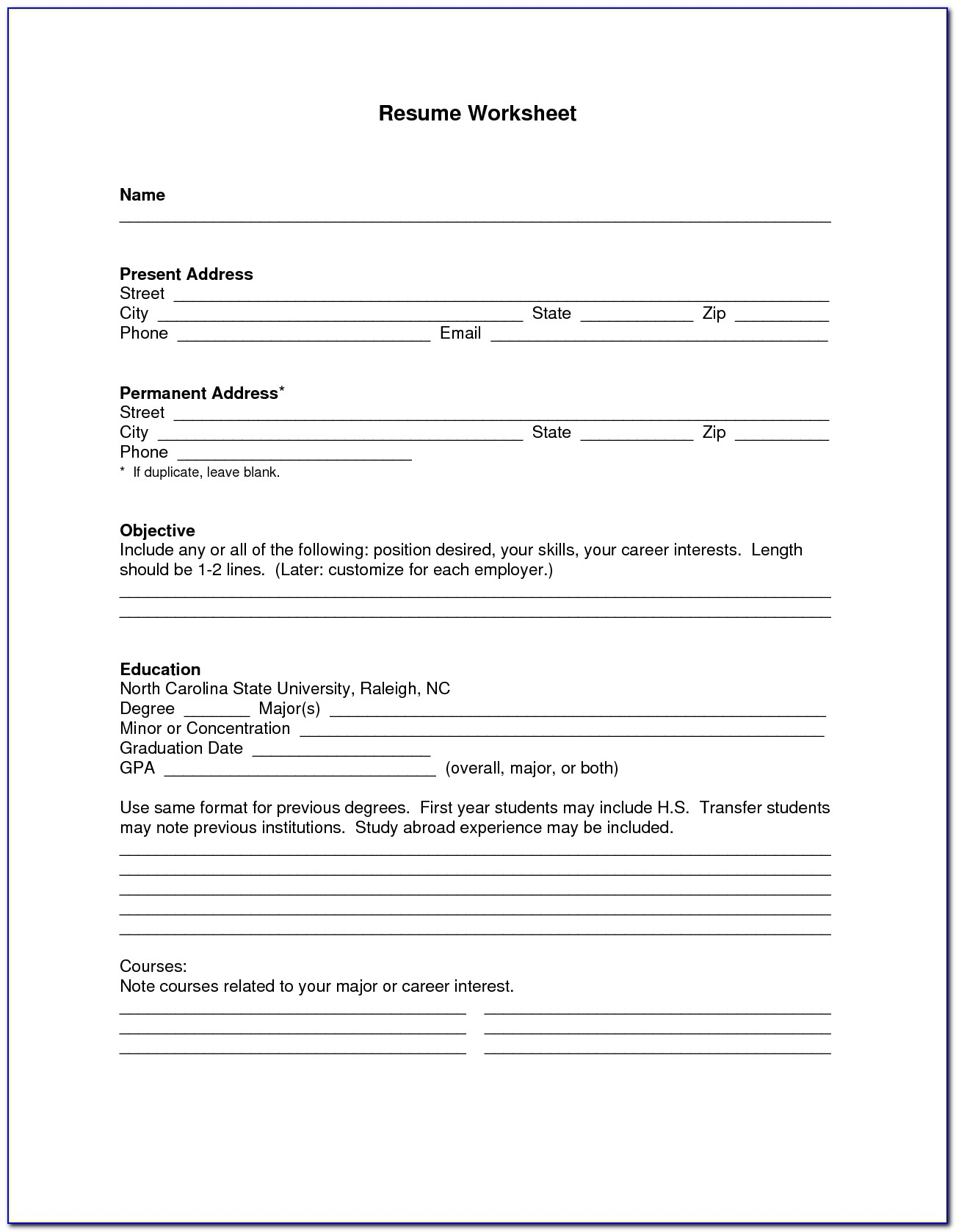 blank resume form for job application vincegray2014 pdf production assistant multiple Resume Resume For Job Application Pdf