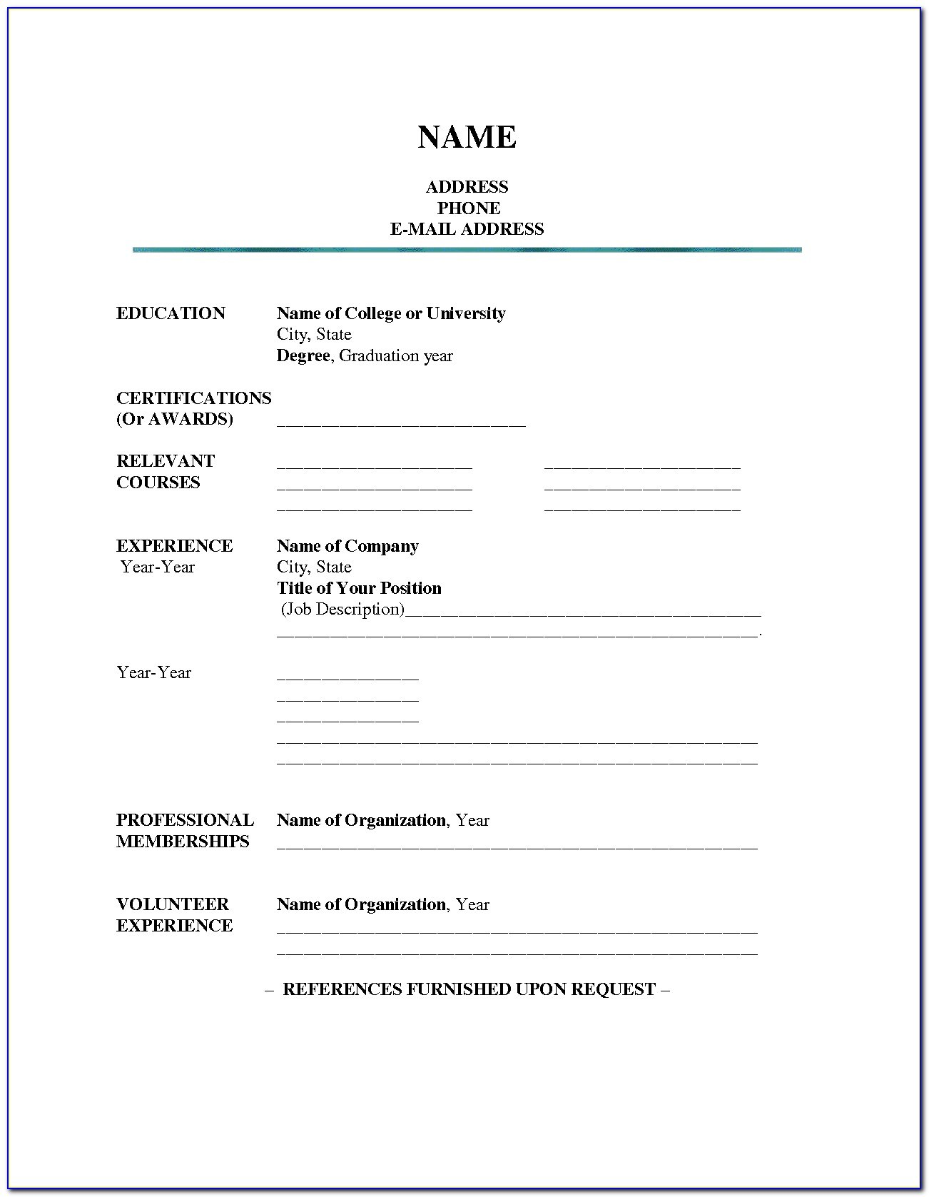 blank resume template word vincegray2014 senior financial executive example creative Resume Download Blank Resume Template