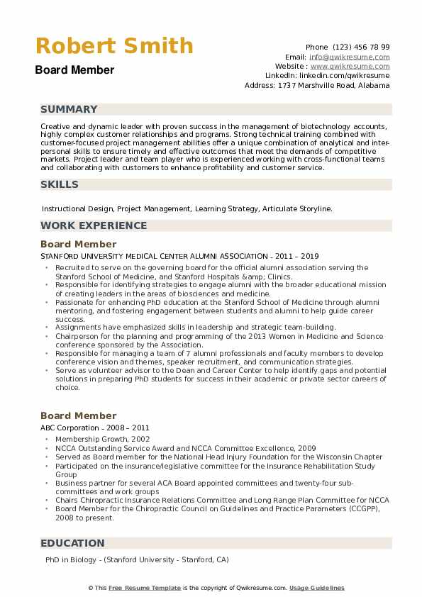board member resume samples qwikresume for position sample pdf super free writing high Resume Resume For Board Position Sample
