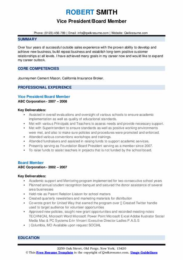 board member resume samples qwikresume for position sample pdf thank you follow up Resume Resume For Board Position Sample