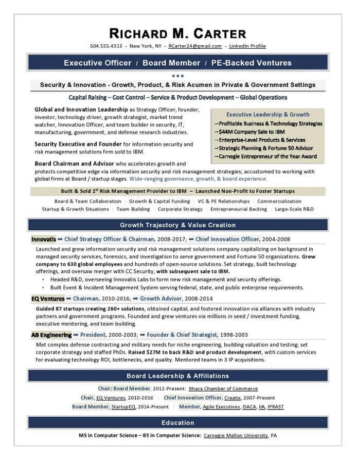 board of directors resume sample executive writer for position best professional writers Resume Resume For Board Position Sample