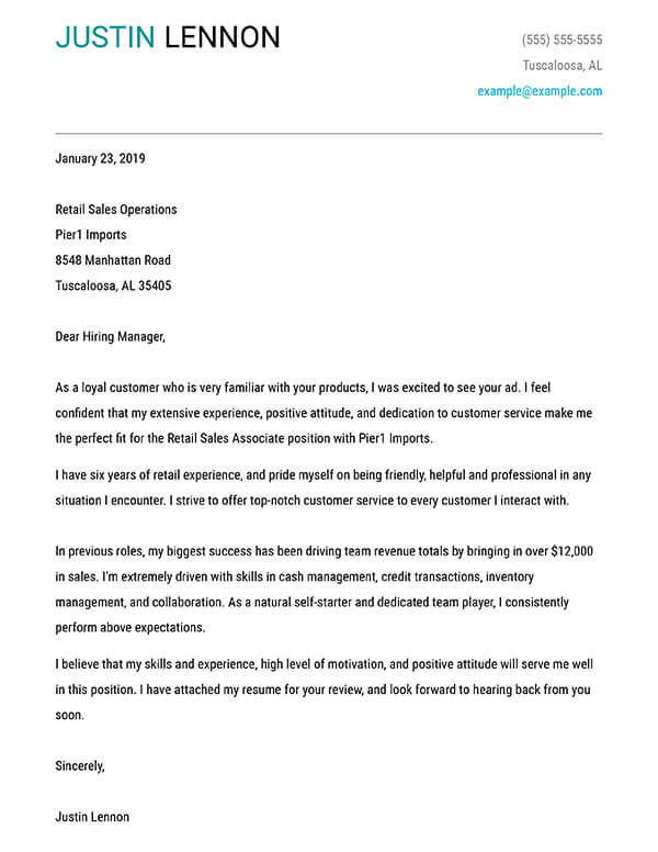 build your cover letter examples myperfectcoverletter create for resume bold retail types Resume Create A Cover Page For Resume