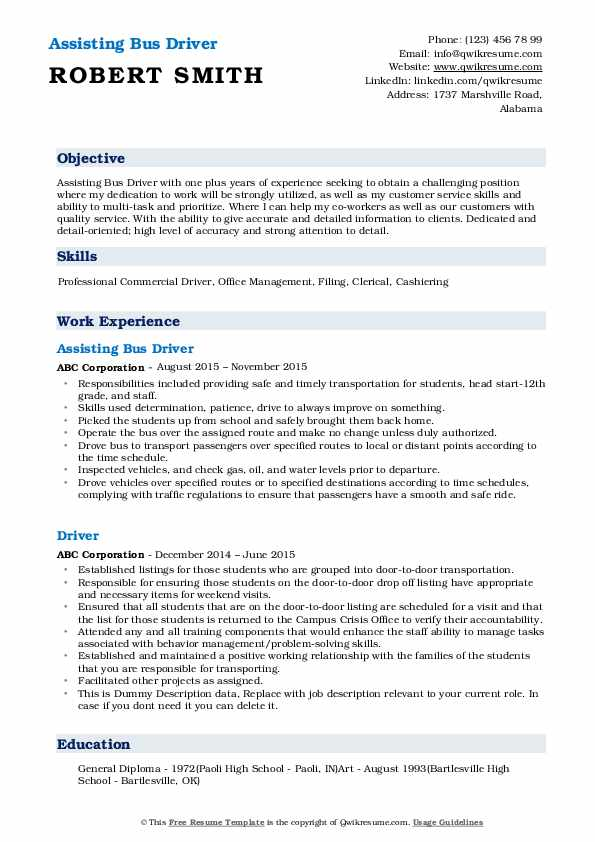 bus driver resume samples qwikresume school pdf mind map template simple easy entry level Resume School Bus Driver Resume