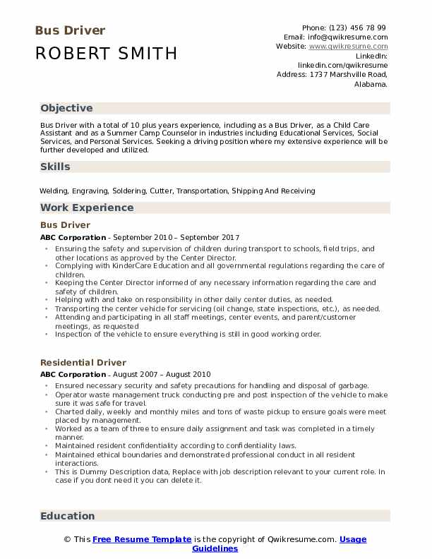 bus driver resume samples qwikresume school pdf writing guide for high students pest Resume School Bus Driver Resume