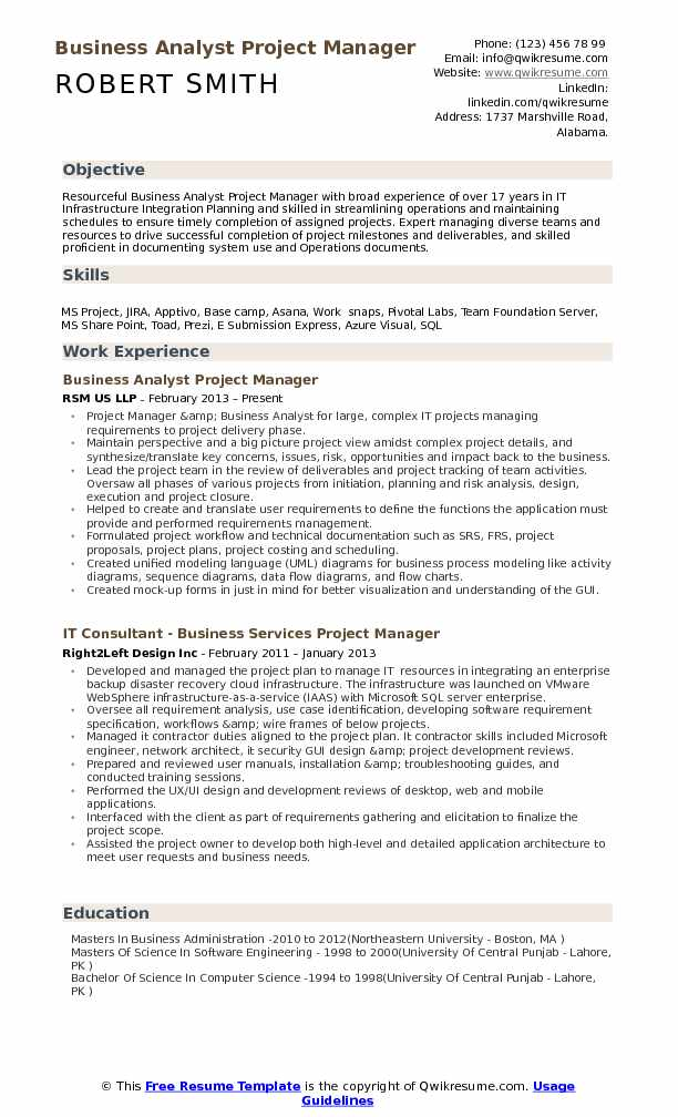business analyst project manager resume samples qwikresume people soft pdf good summary Resume People Soft Project Manager Resume