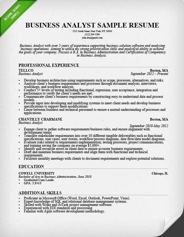 business analyst resume sample monster in template skills for creative executive Resume Skills For Analyst Resume