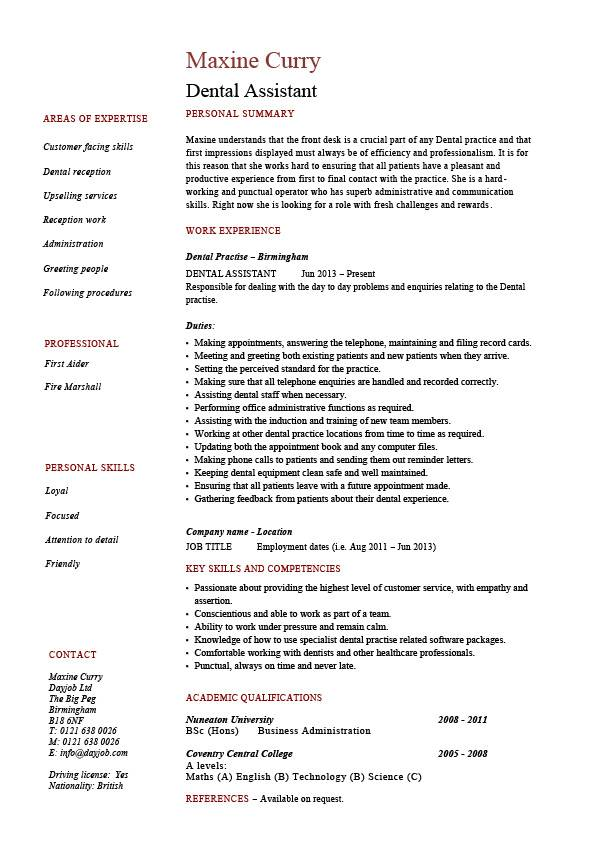 by dental resumes samples resume format assistant template new grad lpn cognos tm1 Resume Dental Assistant Resume Template