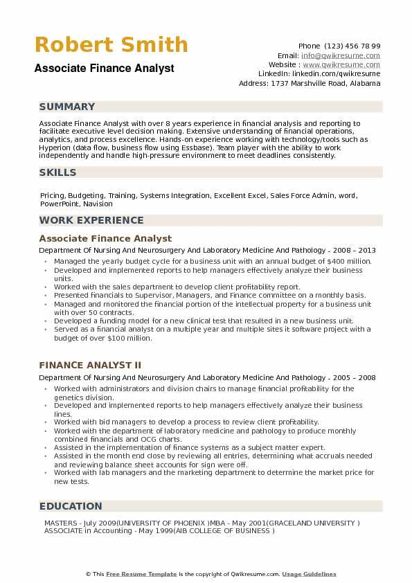 by financial analyst resume samples format sample easy simple free paralegal templates Resume Financial Analyst Resume Sample