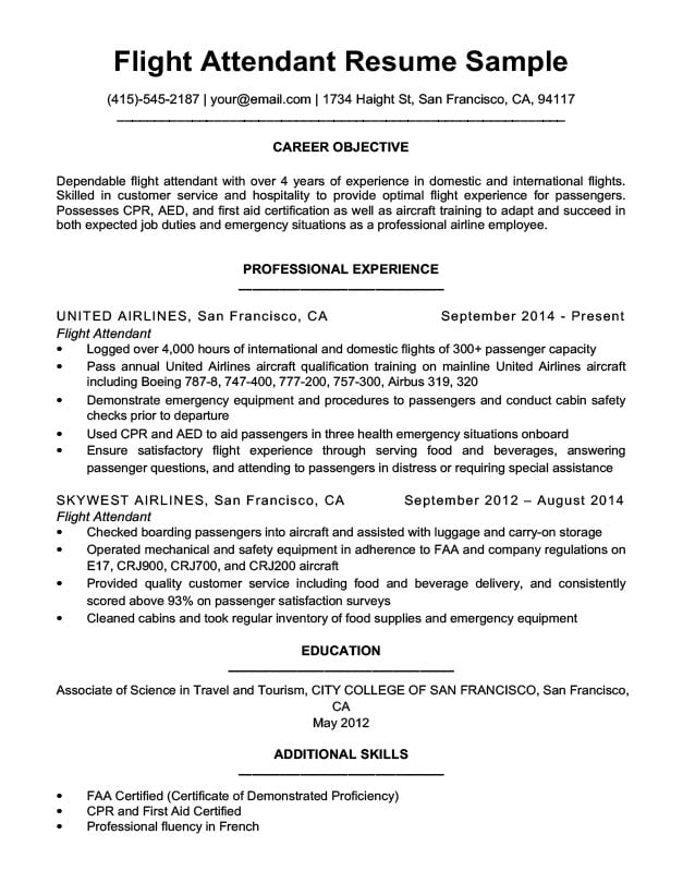 by flight attendant resume format examples administrative assistant sample update Resume Flight Attendant Resume Examples
