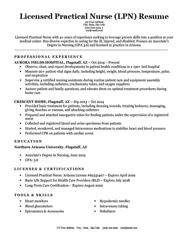 by lpn resume samples format licensed practical nurse tailor your rotational program Resume Licensed Practical Nurse Resume