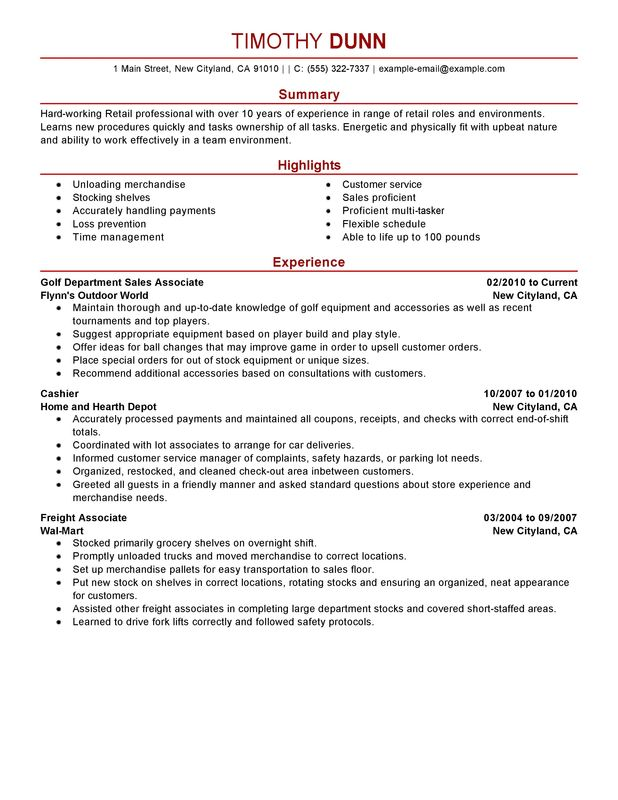 by retail job resume samples format description for with one history sample radiologic Resume Retail Job Description For Resume