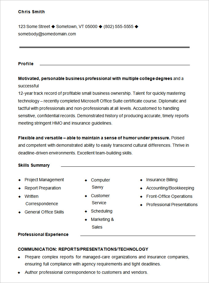 by sample functional resume format template call center analyst for grad school Resume Sample Functional Resume Template
