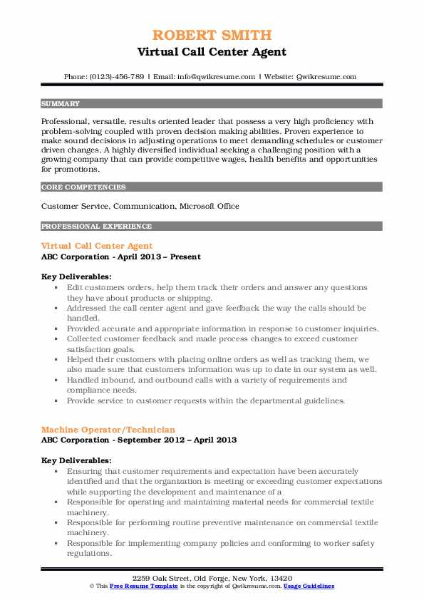 call center agent resume samples qwikresume for pdf powerful summary examples good Resume Resume For Call Center Agent
