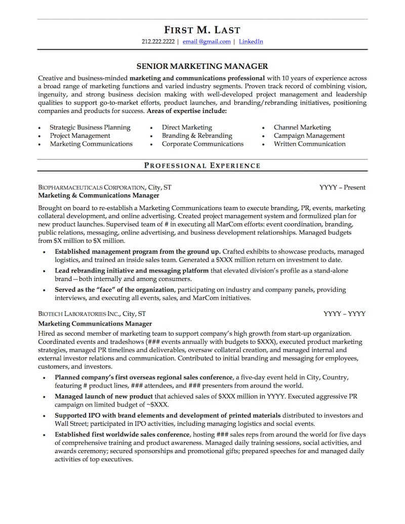 career resume sample professional examples topresume business template page1 blank form Resume Professional Business Resume Template