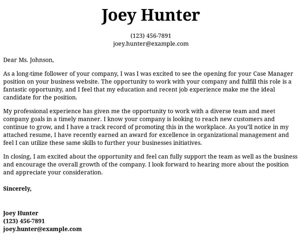 case manager cover letter examples samples templates resume management experience Resume Case Management Experience Resume